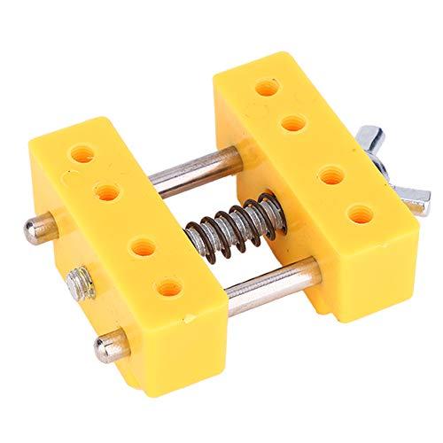 Craft Vise horizontal V-groove tamaño pequeño Mini Vise Hobby Vise conveniente para llevar con la mano libre para fijar joyas