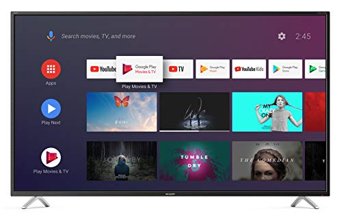 Sharp aquos android 9.0 40' google assistant dts virtualx smart tv bluetooth suono harman kardon sat internet wifi youtube netflix 4xhdmi 3xusb 1 sdcard uscita cuffie, scart e audio digitale.