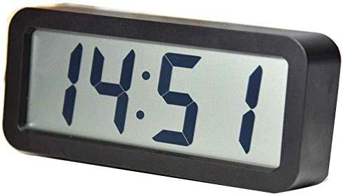 YGB Uhren Schlafzimmer Nacht Wecker LCD Musik Klingelton Wecker Einfache Dekoration Desktop Zähler Wecker Für Schlafzimmer Wohnzimmer Büro und zu Hause Reisen