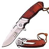 Elk Ridge 8' Wood Gentleman SPRING ASSISTED OPEN Hunting Folding POCKET KNIFE