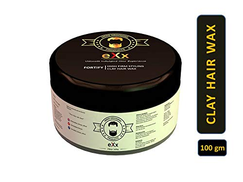 eXx styling clay hair wax for men - Strong and long lasting hold, Restyling, Matte Finish, Adds Volume, 100gm