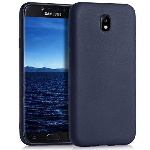 MYCASE Passend für Samsung Galaxy J7 (2017) DUOS Hülle in Blau Silikon Schutzhülle