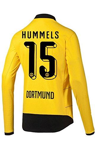 Puma BVB Borussia Dortmund Home Trikot Langarm Herren 2016 - HUMMELS 15, Größe:XL