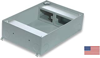 FBSC34 Concrete Floor Box - Recessed - Floor Box for Commercial Applications Accept Power, Data and Audio - Video.