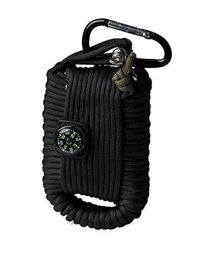Mil-Tec Paracord Survival Kit Large schwarz