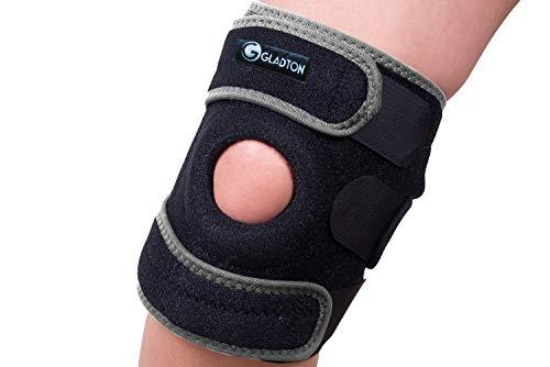 Gladton Kniebandage, Größe XL 2XL 3XL XXL XXXL für Laufen Meniskus Risse Arthritis ACL MCL Schmerzsport Verstellbarer Stabilisator für große Beine, Oberschenkel, Damen, Herren. (XXXL)