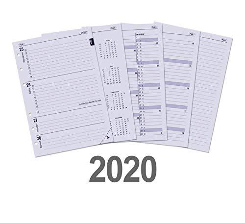 Kalpa Mini Organizer Refilll 1 giorno per pagina Diario Filller 2019 e 2020