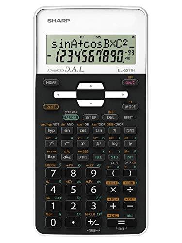 Sharp EL-531 TH-WH Wissenschaftlicher Schulrechner (D.A.L.-Eingabe, Batteriebetrieben) weiß