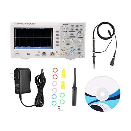 Osciloscopio digital de 2 canales, osciloscopio para la industria con pantalla LCD (regulación de los Estados Unidos)