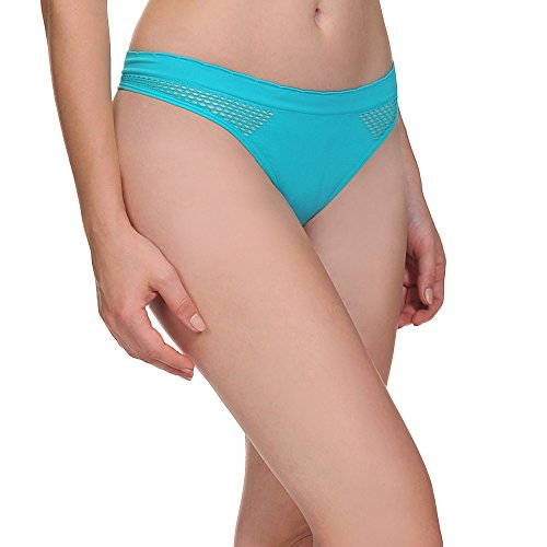 LastFor1 Women Thong Bikini Underwear Nylon Spandex Hipster Panties Brief 6 Pack?pack2-S ?
