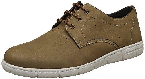 Hush Puppies Men Pj Beige Leather Sneakers-9 UK (8238015)