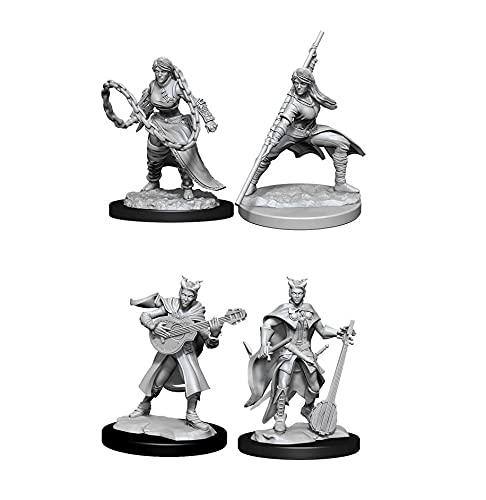 Dungeons & Dragons Nolzur's Marvelous Unpainted Miniatures Bundle: Human MonkFemale W14 + Tiefling Bard Female W14
