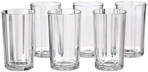 Yera Glass Tumblers – 6 Piece, Clear, 285ml