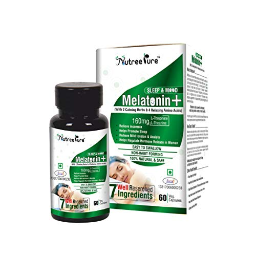 Nutree Pure 3 in 1 Melatonin Plus 6 mg Non Habit...