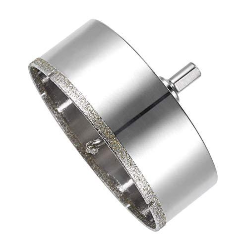 YeVhear - Broca de diamante de 110 mm, orificio de cristal para sierra de broca de núcleo con broca central para azulejos de porcelana de vidrio