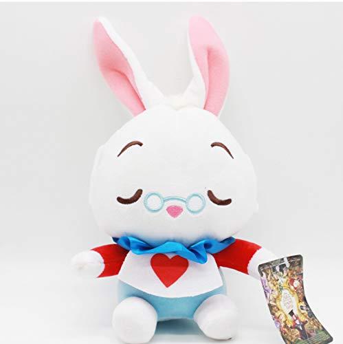 Peluches Alicia En El País De Las Maravillas 2 Muñeca 20Cm Alice Cheshire Cat White Rabbit Peluche Peluches para Niños Regalos 1Pcs