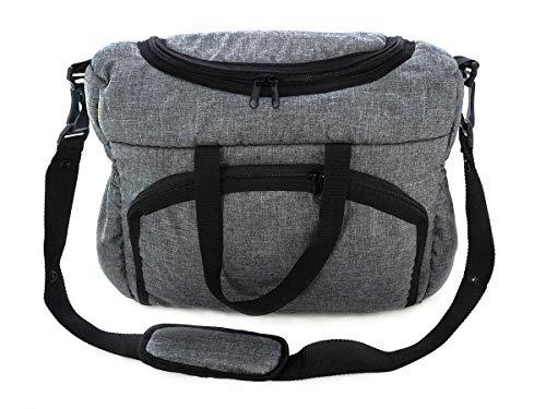 Bolso Parasilla de paseo organizador Bolsa para pañales Gray gris [059]