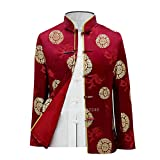 without logo AFTWLKJ Tang Suit Traditional Chinese Clothing for Men Kung Fu New Year Clothes Birthday Party Hanfu Blouse Chinese Tops Vintage Jacket (Color : Color4, Size : M)