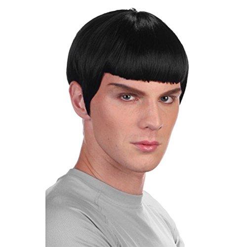 Boland 86410 - Perücke Space Officer, schwarz, Weltraum, Spock, Raumschiff, Wissenschaftler, Kurzhaar, Motto Party, Karneval