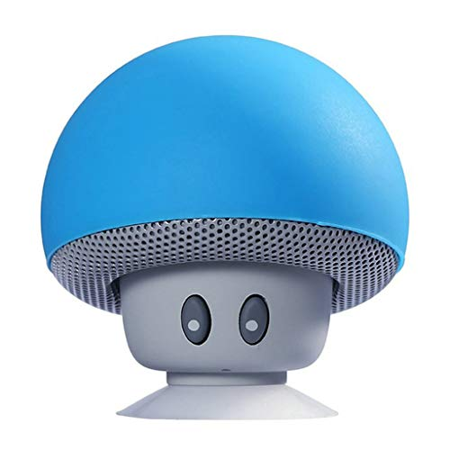 oukery-Bluetooth Speakers, Mini Wireless Bluetooth Speaker MP3 Music Player with Mic Waterproof Portable Stereo Bluetooth Mushroom Speaker for Phone PC Z2