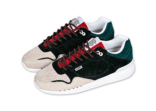 Djinns EasyRun Herren Sneaker Turnschuh Full Effect Black/Red/Sand 43