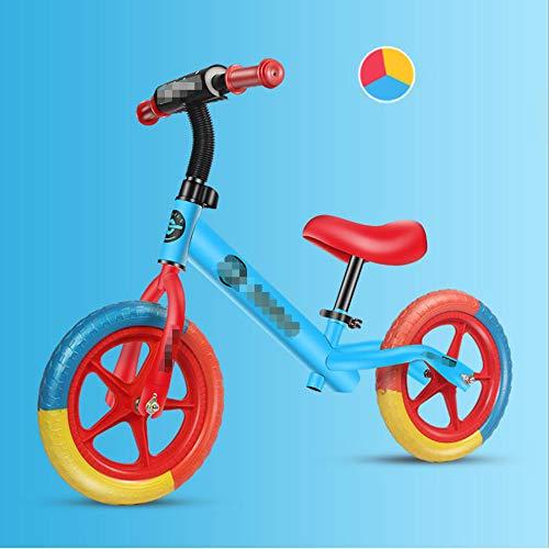 YSCYLY Baby Balance Fahrrad,12 Zoll mit Einstellbarer Sattelhöhe,Kinder Fahrrad Lauflern Rad Balance Bike