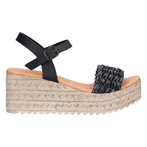 Zapatos de cuña de Mujer CHIKA10 Egipto 05 Negro