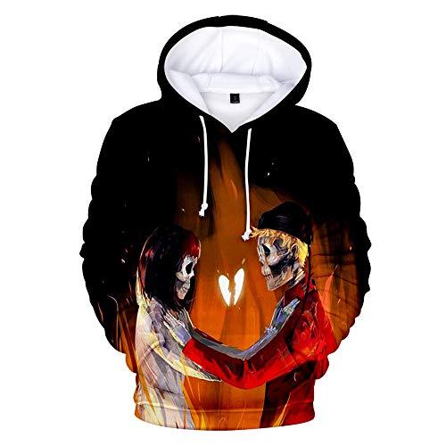 De.Pommeyeux Josh A & Jake Hill Hoodie 3D Kapuzenpullover Sweatshirt Casual Hip Hop Pullover Oversize Gr. Medium, Ka00573