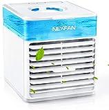 WSZYBAY Acondicionador de Aire portátil del Ventilador de Aire Acondicionado, Ventilador de refrigerador de Aire Mini, Unidad de Aire Acondicionado rápido con Luces LED, humidificador USB a Prueba de