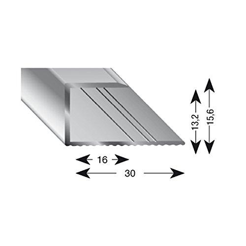 Kügele 11130 S 100 Gleitabschlussprofil U Alu silber eloxiert 13/1000 mm