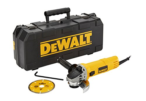 Dewalt DWE4156KD-QS Mini-Amoladora 115 mm 900W 11.800 RPM maletín Disco Diamante, Arándano