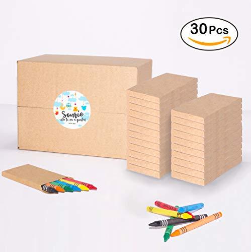 Mega Pack de 180 Ceras para Colorear en 30 sets | Regalo Divertido para Invitados en Fiestas Infantiles de Cumpleaños en Colegio, Bodas y Eventos | Empaque Colores
