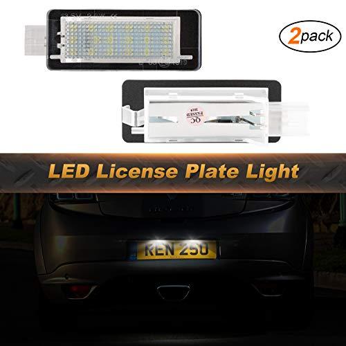 OZ-LAMPE Kennzeichenbeleuchtung 2 X 18 Nummernschildbeleuchtung 2835 SMD Kompatibel mit Renaul-t Captur Clio Espace Laguna Latitude Master Megane Modus/Grand Modus Scenic Twingo Zoe