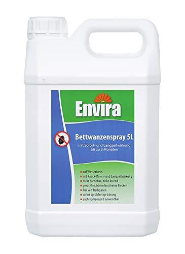 Envira Bettwanzen-Spray I Anti-Bettwanzen-Mittel Mit Langzeitwirkung I Geruchlos & Auf Wasserbasis I 5 Liter