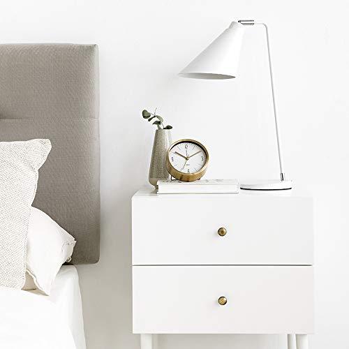 Kenay Home Lámpara De Sobremesa Seren Blanca, 15x47x26cm (WxHxD)