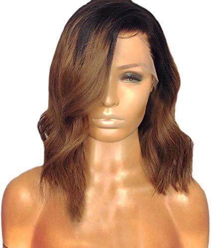 Lace Front Party Hair Femmes Mode Beauté Quotidien Maquillage Synthétique Perruques Courtes Bouclés Perruque Dark Roots Vague d'eau