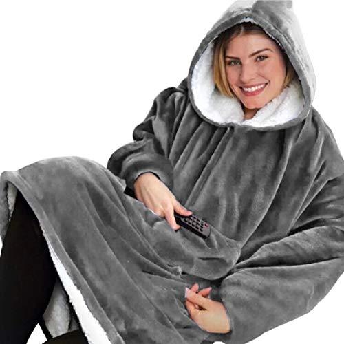 Voqeen Hoodie Sweatshirt Damen Herren Kapuzenpullover Übergroße Decke Pullover Decke Riesen-Sweatshirt Langarmshirt Komfortable Weiche Warme Pulli mit Taschen Super Weich und Bequem