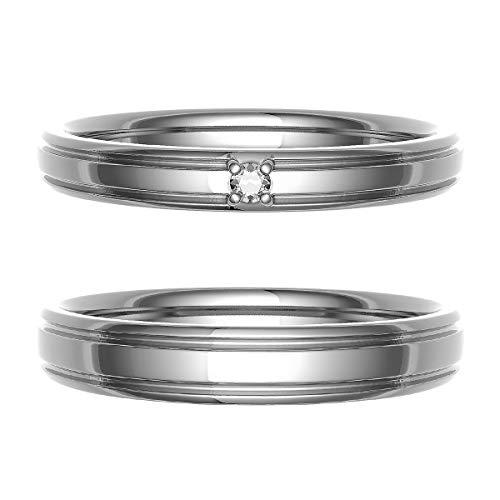 [ココカル]cococaru ペアリング 結婚指輪 シルバー 2本セット マリッジリング 日本製 (レディースサイズ11号 メンズサイズ13号)