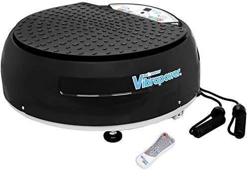 Styletics - Plataforma vibratoria Vibrapower Disc (reacondicionado), plateado