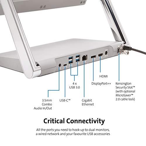 Kensington SD7000 Surface Pro Dockingstation - 4K Display mit HDMI und DisplayPort Anschluss im Multimodus - 4 USB-Anschlüsse, Gigabit-Ethernet-Anschluss und Lademöglichkeit