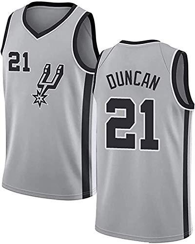 BPZ Camisetas De La NBA para Hombre - Spurs 21# Tim Duncan Camiseta De Baloncesto De La NBA - Camiseta Deportiva De Baloncesto Sin Mangas Transpirable De Ocio,1,XL (180~185CM / 85~95KG)