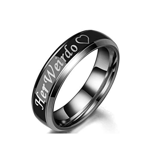 Desconocido Anillo de titanio con sensor de movimiento de temperatura, cambio de color, anillos de compromiso para pareja, 6 mm