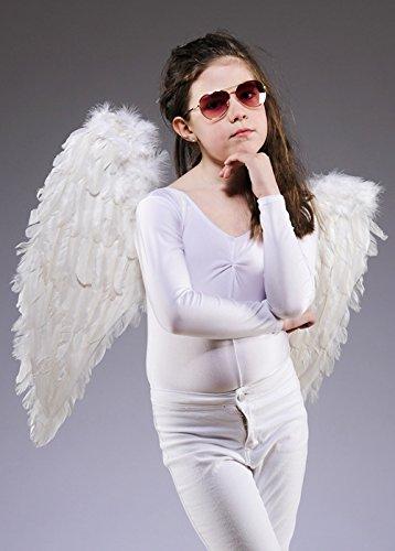 Enfants taille des ailes d'ange plume blanche