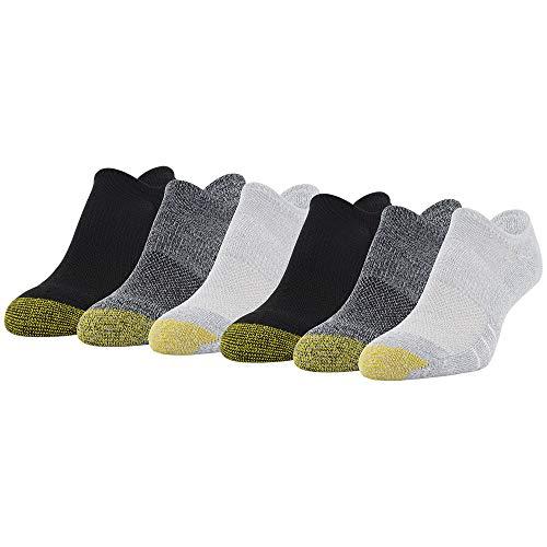 Gold Toe Women's Sport Tech So-Low Socks, Cinder, Grey, Black, Shoe Size: 6-9