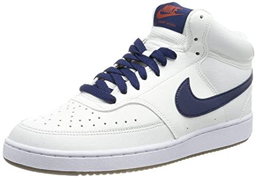 Nike Court Vision Mid, Zapatillas de baloncesto para hombre Blanco Size: 40 EU