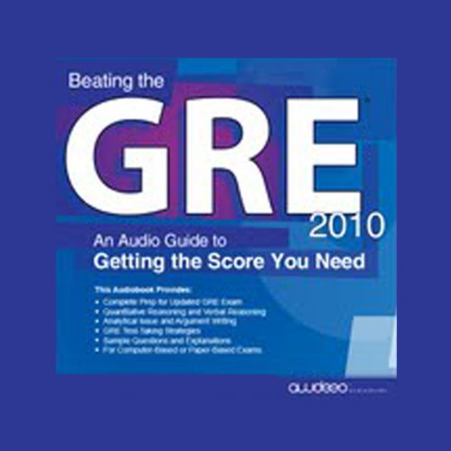 Beating the GRE 2010 audiobook cover art