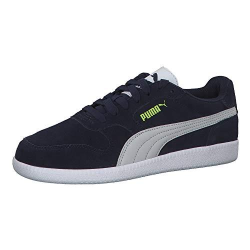 PUMA Icra Trainer SD Jr Sneaker, Blau (Peacoat Gray Violet NRGY Yellow White), 36 EU