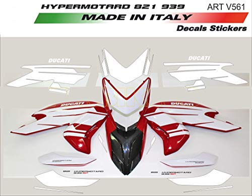 Vulturbike Sticker Set Design 939 Sp Weiß - Ducati Hypermotard 821/939