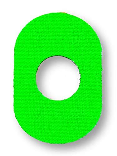 FixTape ademende sensor tape voor Freestyle Libre 1 & 2 I zelfklevende patch met gat voor glucose sensor I bijzonder huidvriendelijk en watervast in hippe designs I 7 stuks (Groene)