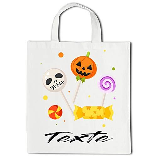 Linyatingoshop Shopping-Tasche Halloween Bonbons – Vorname oder Text – Geschenkidee für Halloween, Bonbons,